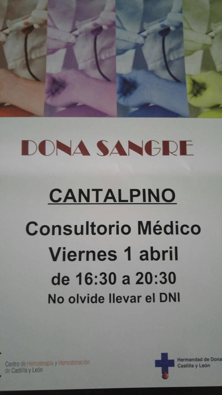 Llamamiento a los cantalpineses para la donación de sangre