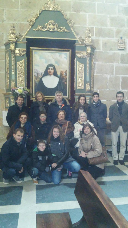 Devotos sevillanos visitan Cantalpino para conocer el lugar donde nació la Beata Eusebia Palomino.