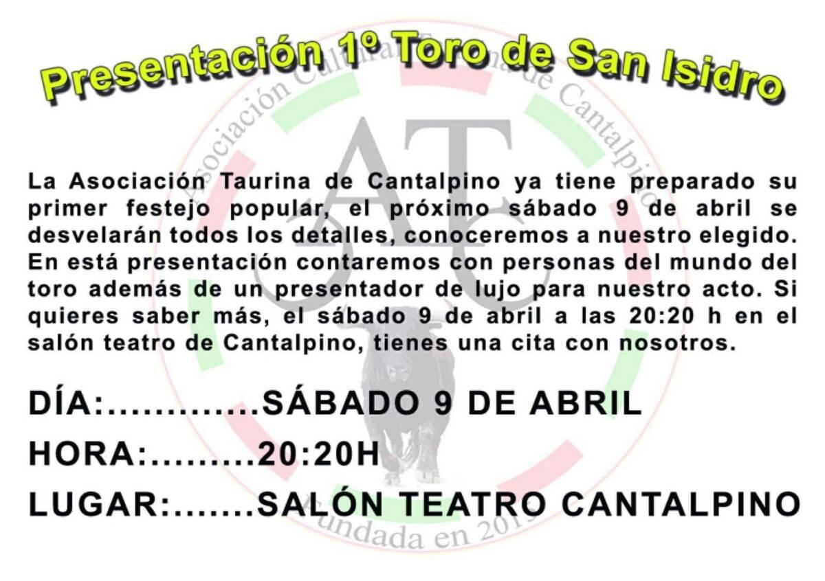 La Asociación Cultural Taurina de Cantalpino recupera los festejos taurinos de San Isidro