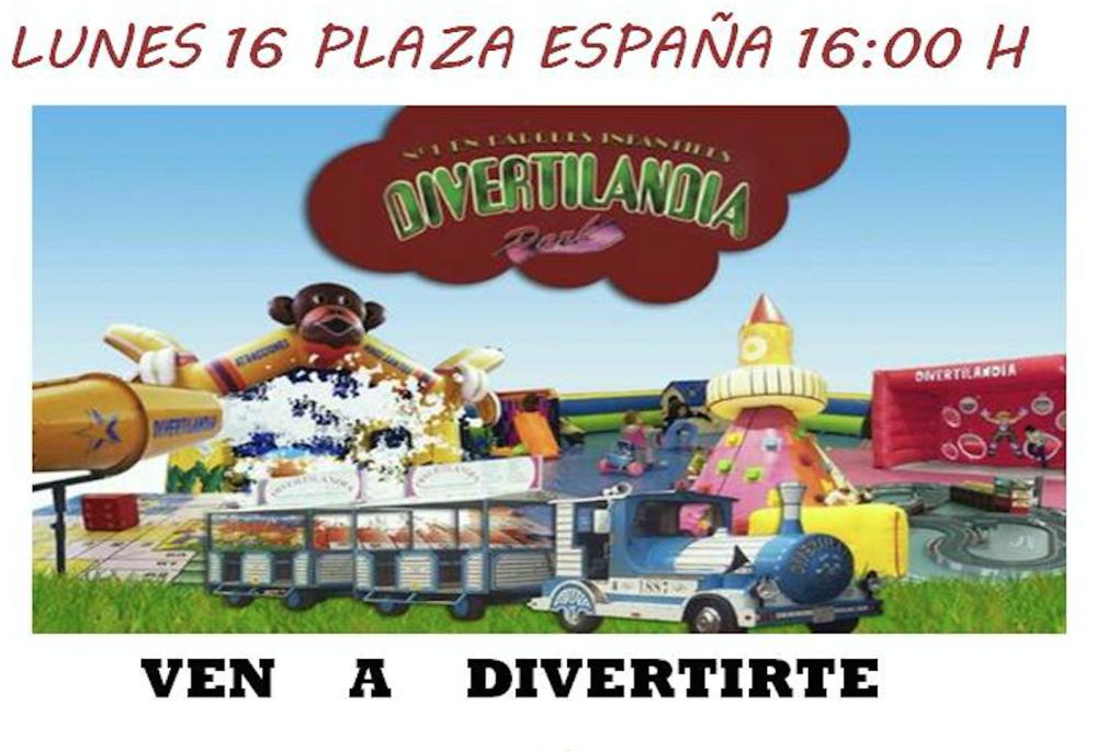 Atracciones para todos los niños el lunes 16 de mayo en la plaza España