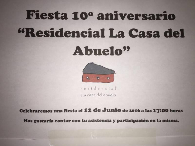 """Residencial """"La casa del abuelo"""" celebra su 10º Aniversario"""
