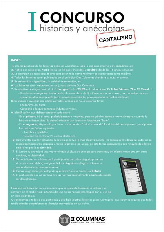 I Concurso historias y anecdotas cantalpino web