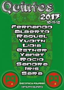 cartel quintos 2017