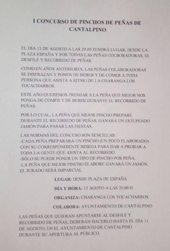 I Concurso de Pinchos de Peña