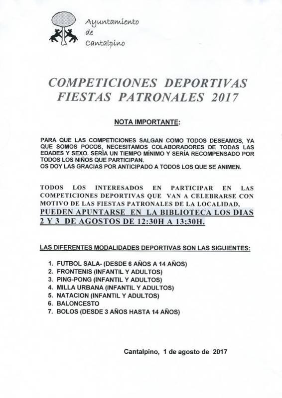 Competiciones deportivas 2017